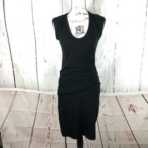 $225 Standard James Perse 2 Black Ruched Dress NEW